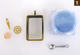 UVレジン・フレームアクセサリー・作り方1