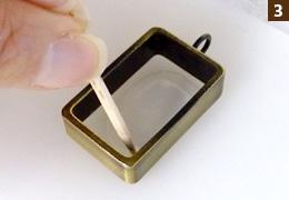 UVレジン・フレームアクセサリー・作り方3