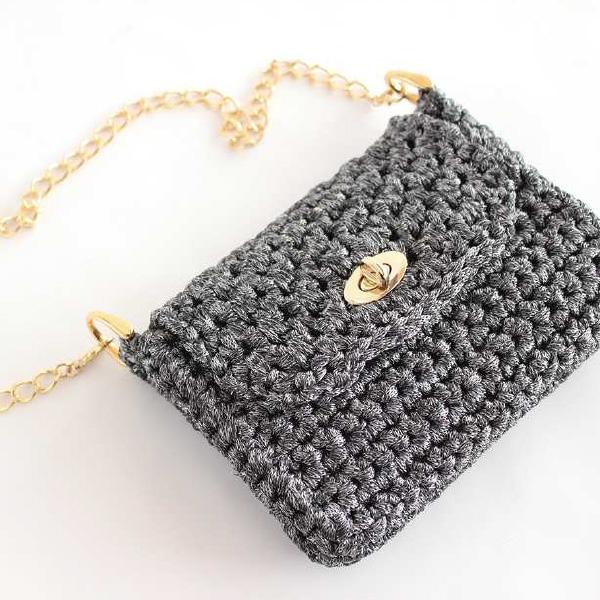 ウイスタールミナール 手編みバッグ作品例