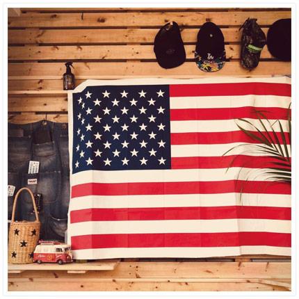国旗タペストリー 装飾例
