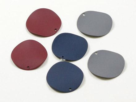 メタルカラーコートパーツ 丸プレート波線 20mm