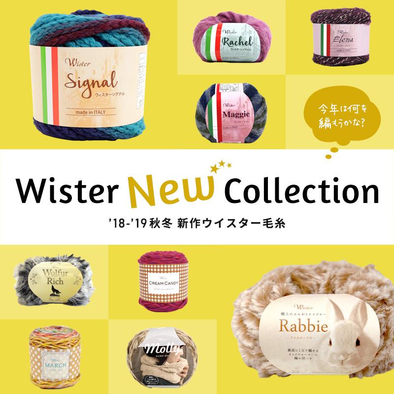 Wister(ウイスター)2018-2019 秋冬新作毛糸
