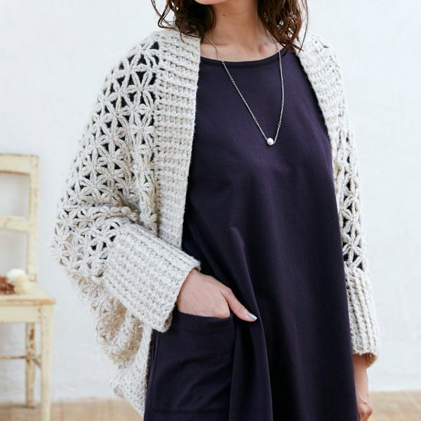まっすぐ編みのボレロ:ウイスターエレナ