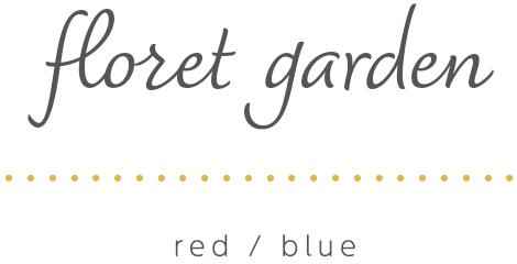 K.omono刺しゅうキット「floret garden」red/blue