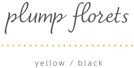 K.omono刺しゅうキット「plump florets」yellow/black
