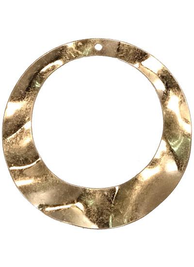 ウォンメッキメタルパーツ 丸くり抜き波線 約40mm