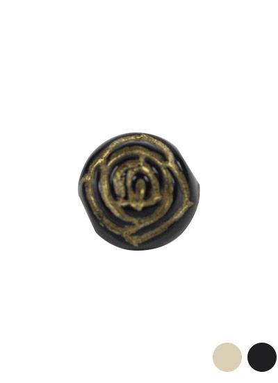 ヴィンテージアクリルビーズ 薔薇 約10mm