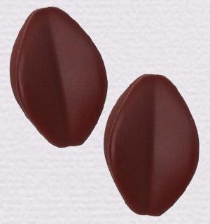 チョコビーズ カカオ型