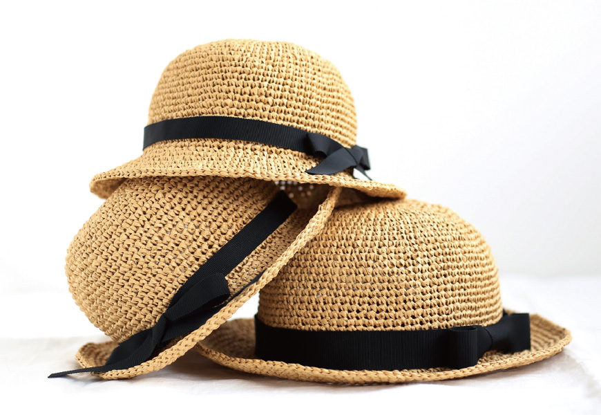 親子麦わら帽子