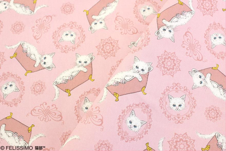 フェリシモ猫部×トーカイ お花と猫 シーチング生地