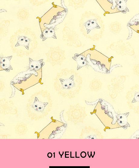 フェリシモ猫部×トーカイ 白猫 シーチング生地