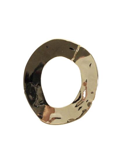 ツールフリーメタル 槌目フープ 約27×24mm