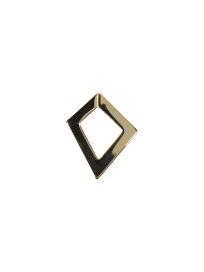 ツールフリーメタル 変形菱形フープ 約16×14mm
