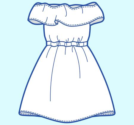 基本のレシピ まっすぐ縫いの簡単ドレス
