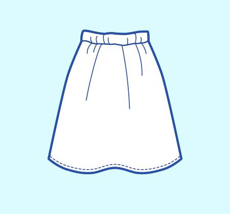 基本のレシピ まっすぐ縫いの簡単スカート