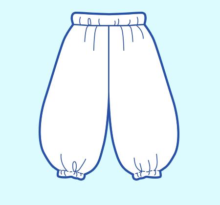 基本のレシピ まっすぐ縫いの簡単パンツ