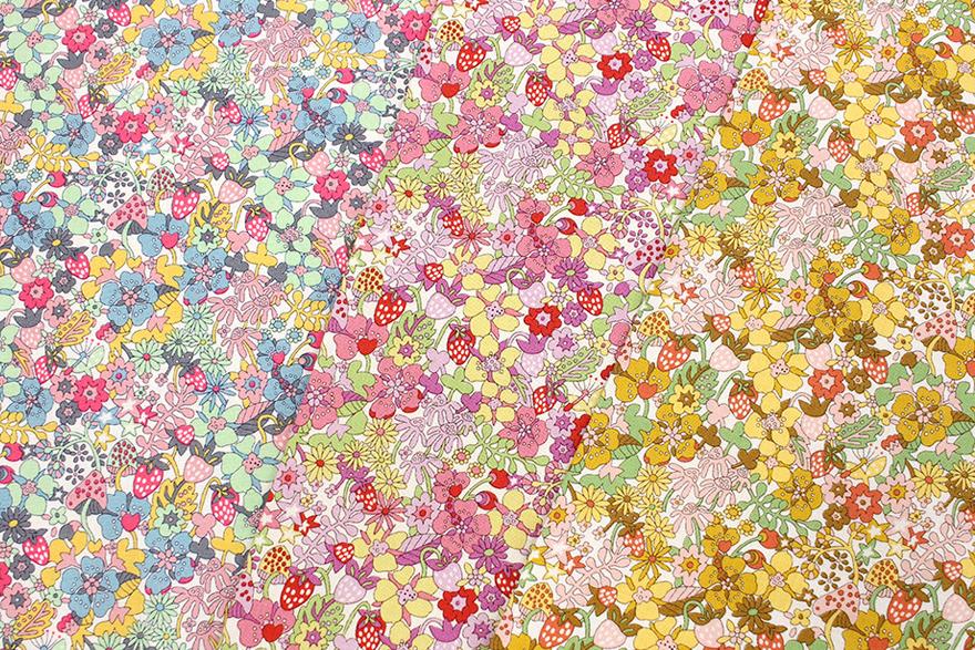 リバティプリント Flowertops ラセンビィ・コットン