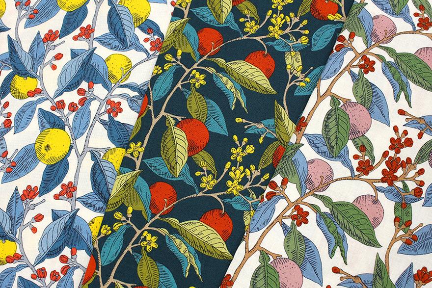 リバティプリント Conservatory Fruits ラセンビィ・コットン