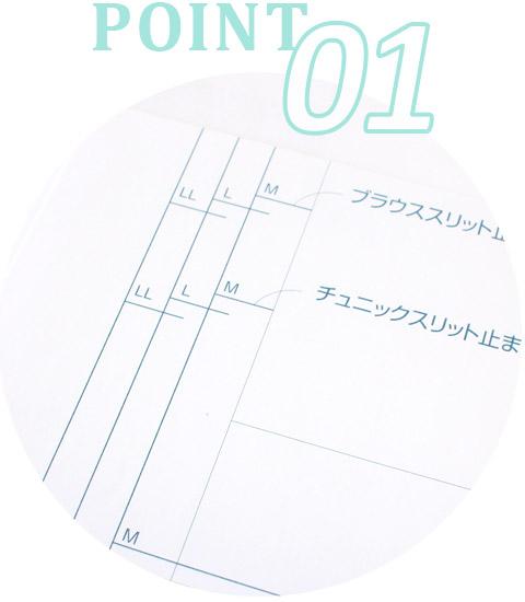 切り抜いてそのまま使える!SEWING PATTERN BOOKシリーズ point.1