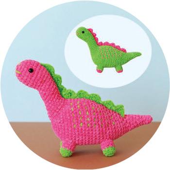 2玉で2匹編める恐竜さん