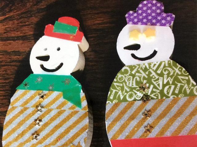 クリスマスデザインのウッドレターの出張手作りイベントレポート